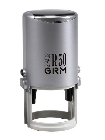 GRM R50 Hummer 2 Pads. Оснастка пластиковая для круглой печати с двойной подушкой D 50мм.