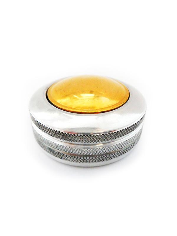 К   «Сатурн-кнопка» (серебро) d42 мм. Металлическая оснастка для круглой печати.