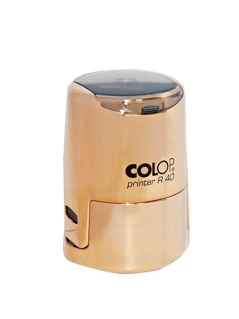 Colop Cover Printer R40 Gold оснастка для печати  D 40 мм с защитной крышкой (золотистая). (АКЦИЯ)
