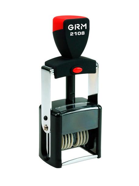 GRM 2108 Металлический нумератор 8 разрядов высота шрифта 3мм