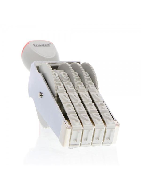 Trodat 15124 нумератор ленточный металлический, высота шрифта 12 мм, число разрядов 4