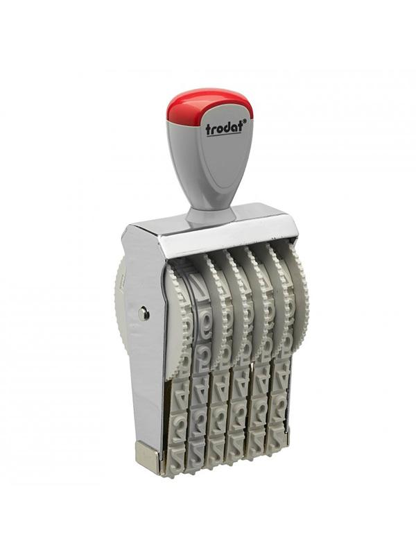 Trodat 15126 нумератор ленточный металлический, высота шрифта 12 мм, число разрядов 6