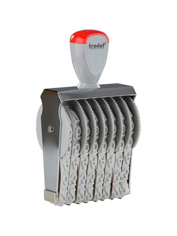 Trodat 15128 нумератор ленточный металлический, высота шрифта 12 мм, число разрядов 8