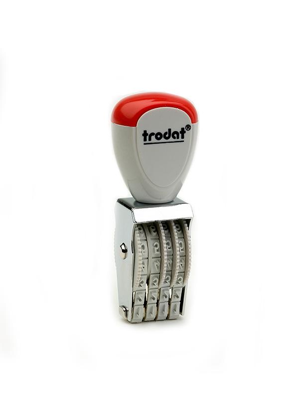 Trodat 1534 нумератор ленточный металлический, высота шрифта 3 мм, число разрядов 4