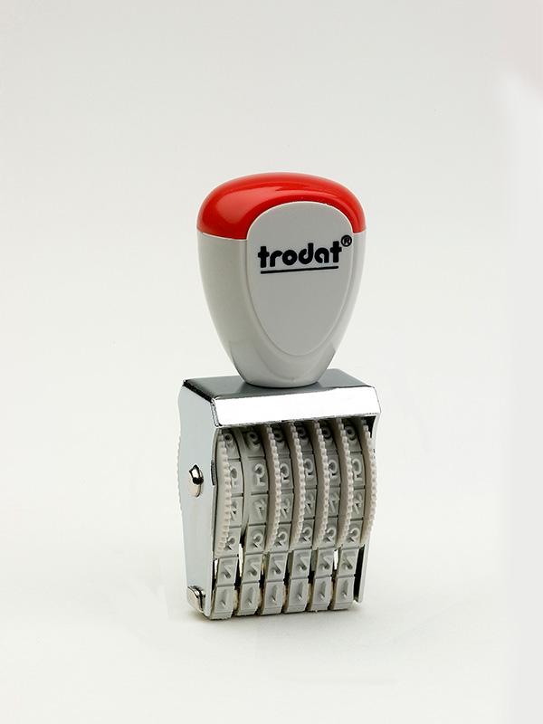 Trodat 1536 нумератор ленточный металлический, высота шрифта 3 мм, число разрядов 6