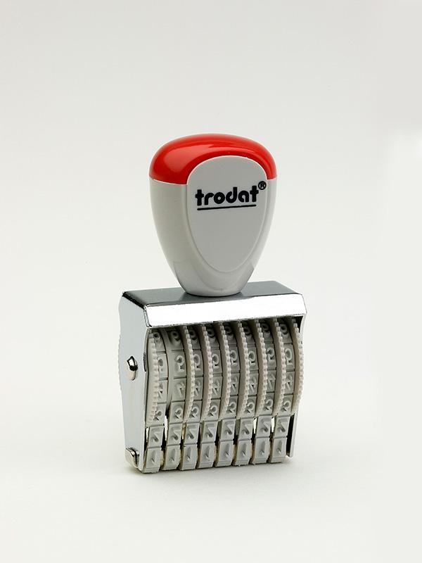 Trodat 1538 нумератор ленточный металлический, высота шрифта 3 мм, число разрядов 8