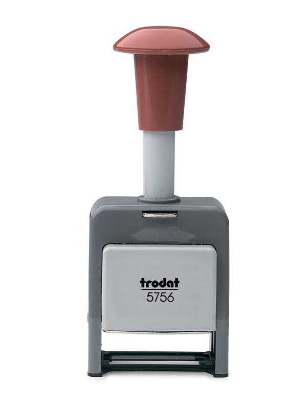 Trodat 5756/Р нумератор автоматисческий, пластиковый корпус, высота шрифта 5,5 мм, 6 разрядов