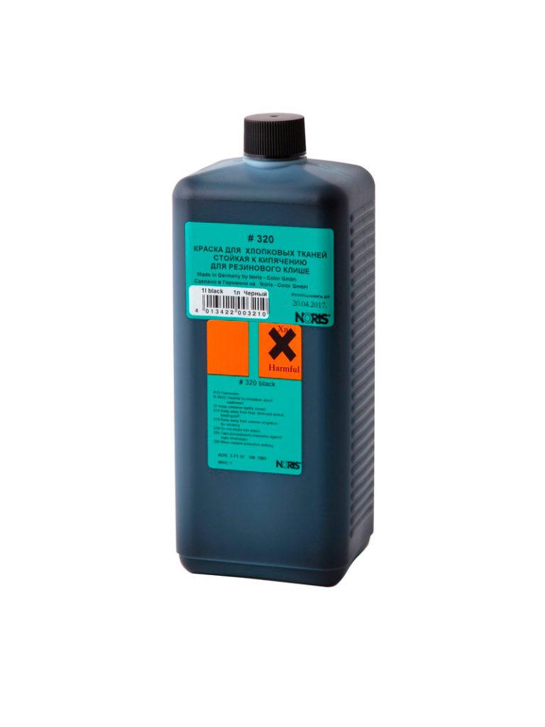Colop 320E Краска для хлопковых тканей на спиртовой основе 1л. (черная)