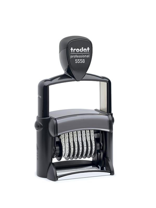 Trodat 5558 Нумератор металлический, 8 разрядов, высота шрифта 5 мм