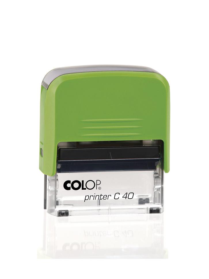 Colop Printer С40 оснастка для штампа 59х23 мм. (киви/ прозрачная)