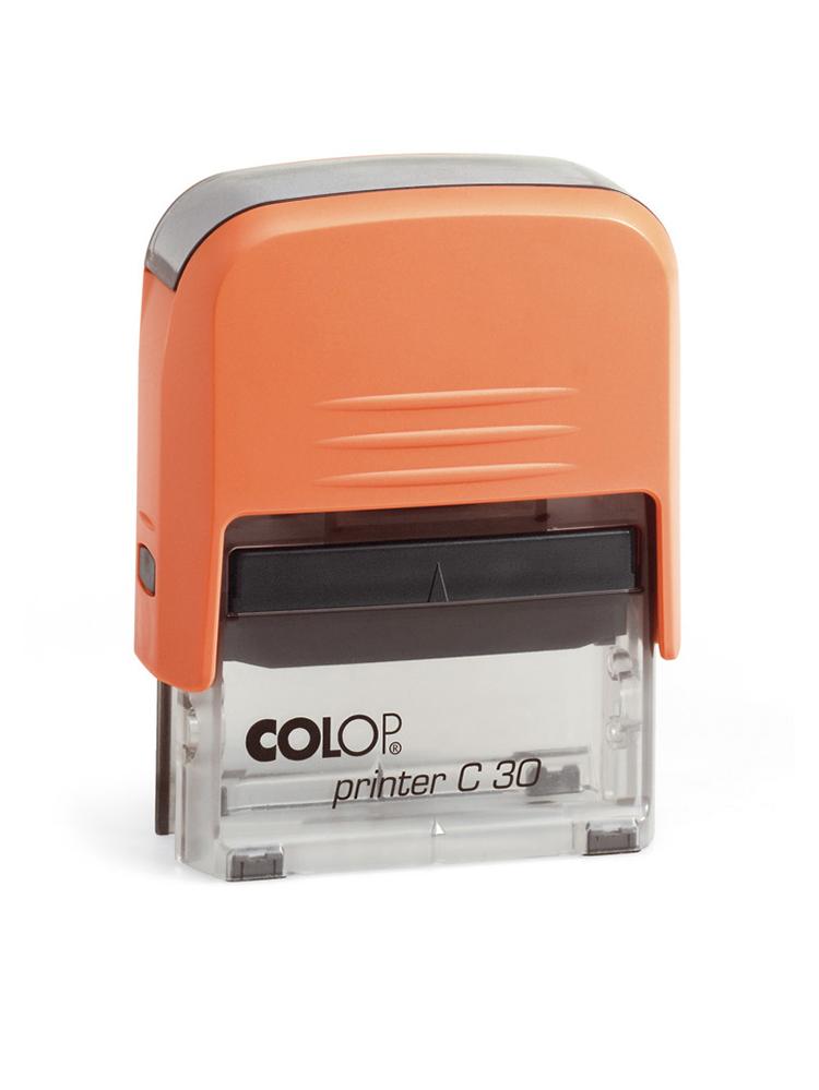 Colop Printer С30 оснастка для штампа 47х18 мм. (оранжевая/ прозрачная)