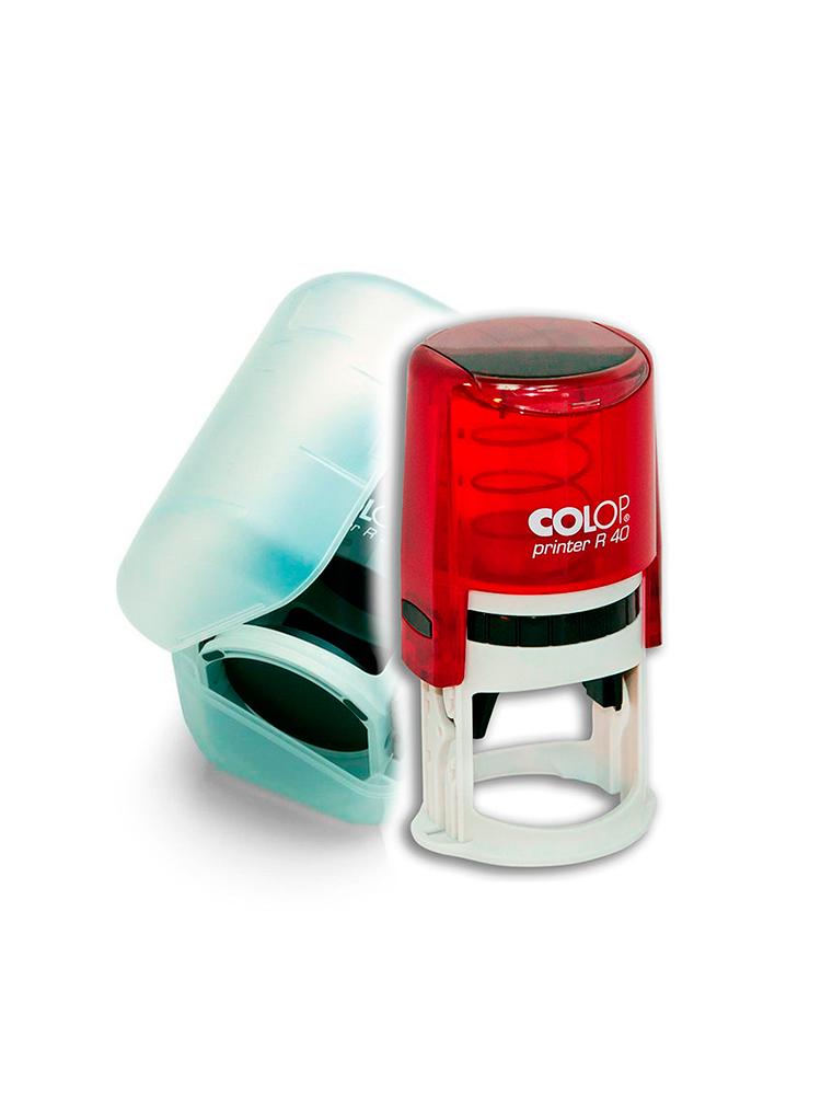 Colop Printer R40 Box Ruby оснастка для круглой печати с боксом (рубин).