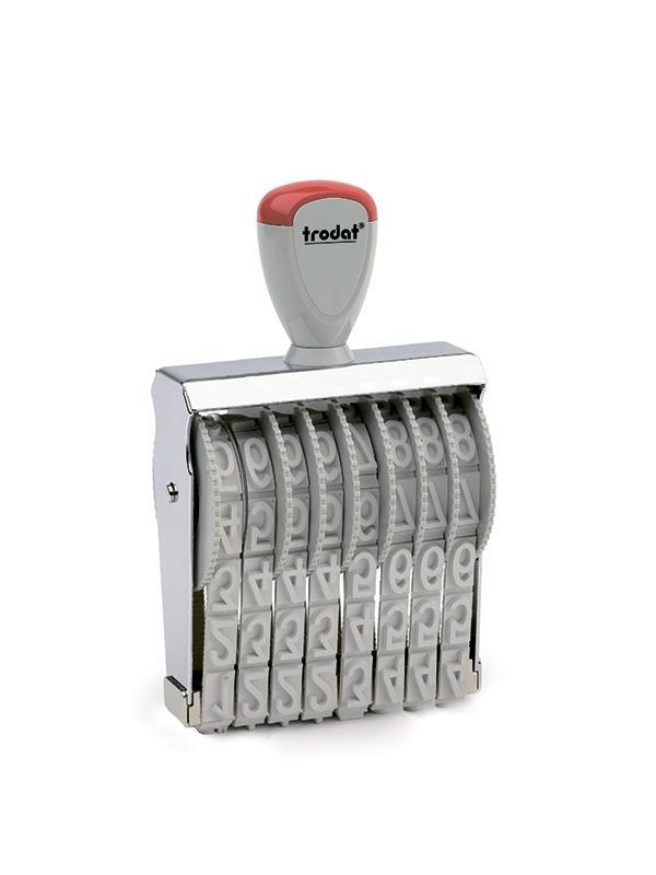 Trodat 15158 нумератор ленточный металлический, высота шрифта 15 мм, число разрядов 8
