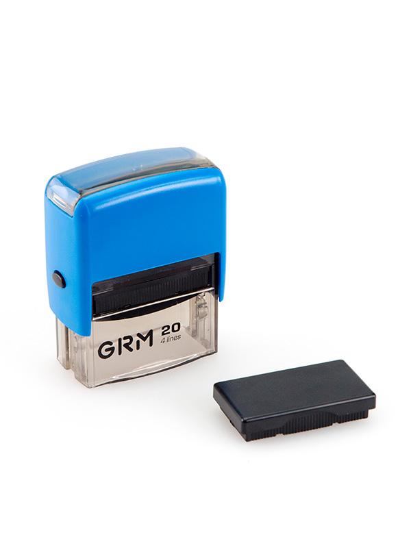 GRM 20 оснастка для штампа эконом 38х14 мм (синий)