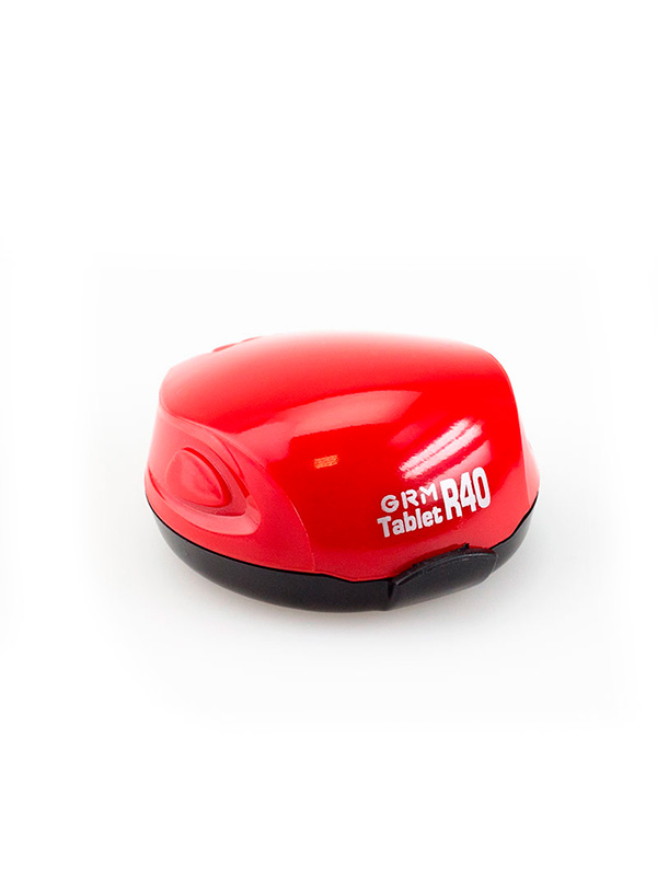 GRM Tablet R40 ручная полуавтомат. карманная оснастка с подушкой для печати D 40 мм (красный).