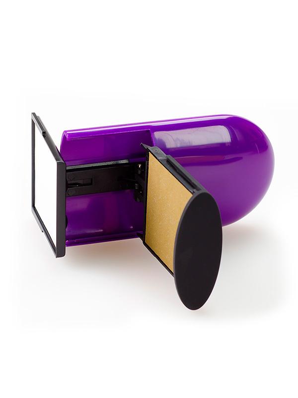 GRM Pocket R40 One Click 10 lines, оснастка карманная, 10 строк, 42х42 мм, (фиолетовый).