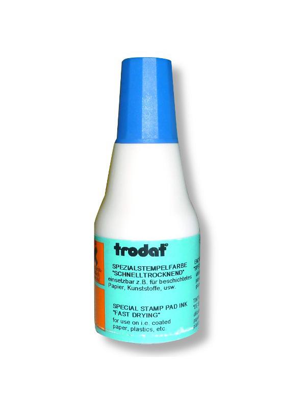 Тродат 7021 быстросохнущая штемпельная краска 25 мл синяя (спиртовая основа)