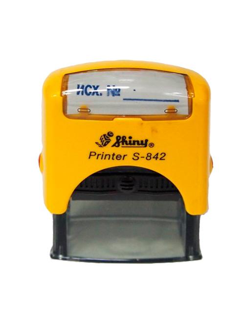 Shiny S-842 New Printer оснастка для штампа 38х14 мм (желтая)