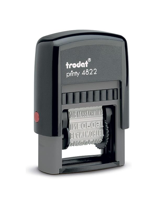 Trodat 4822 Датер пластиковый с 12 бухг. терминами (русские)