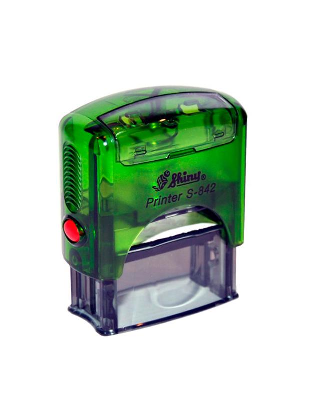 Shiny S-842 New Printer оснастка для штампа 38х14 мм (зеленая)