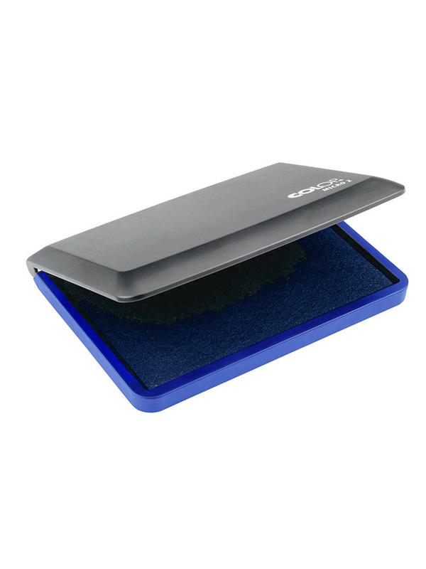 Micro 2 синяя в настольная штемпельная подушка в блистере 70х110 мм