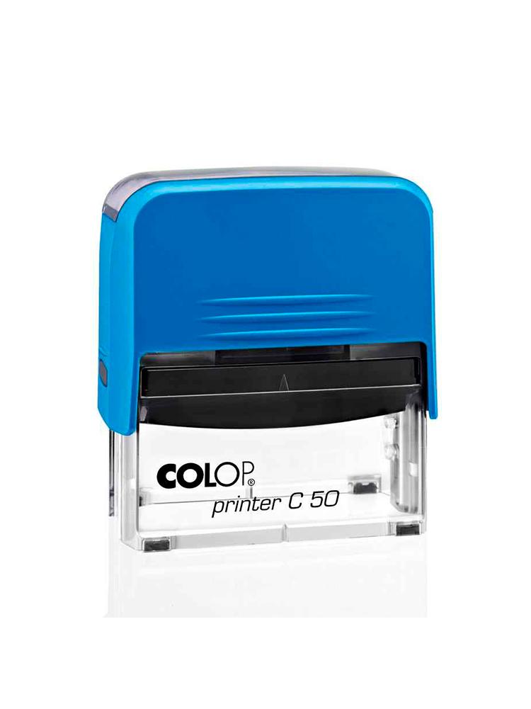 Colop Printer C50 онастка для штампа 30х69 мм. (синяя/ прозрачная) АКЦИЯ!