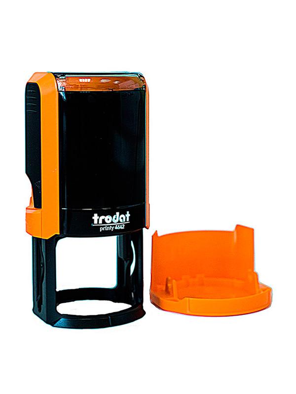 Trodat 4642 NEW автоматическая оснастка для печати d 42мм с защитной крышкой (оранжевая) (АКЦИЯ)