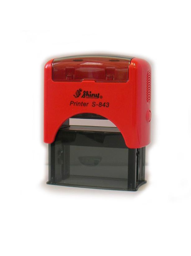 Shiny S-843 New Printer оснастка для штампа 47х18 мм (красная)