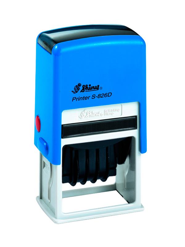 Shiny Printer S-826D Датер с полем для текста (41х24 мм)