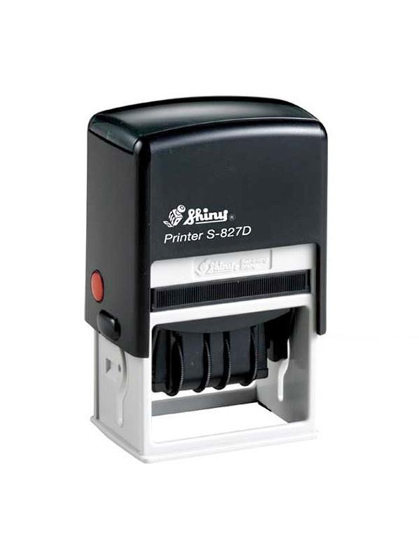 Shiny Printer S-827D Датер с полем для текста (50х30 мм)