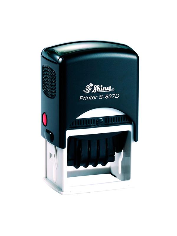 Shiny Printer S-837D Датер с полем для текста (50х40 мм)