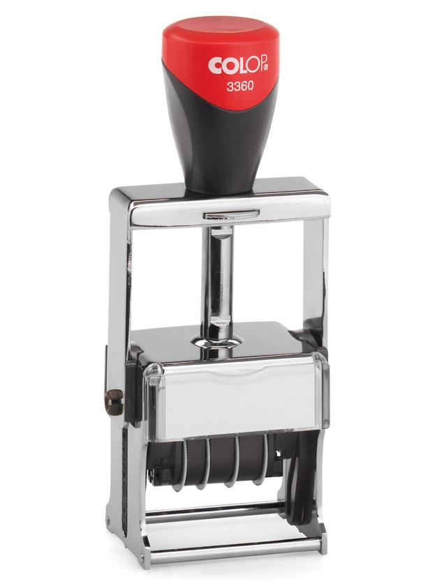 Colop 3360 Bank Dater датер металлический банковский со свободным полем 45х30 мм (Expert Line)