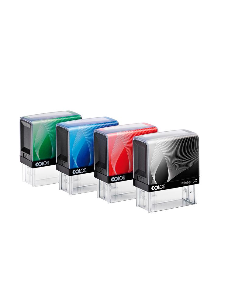 Colop Printer 30 оснастка для штампа 18х47 мм. (радуга/ черная рамка)