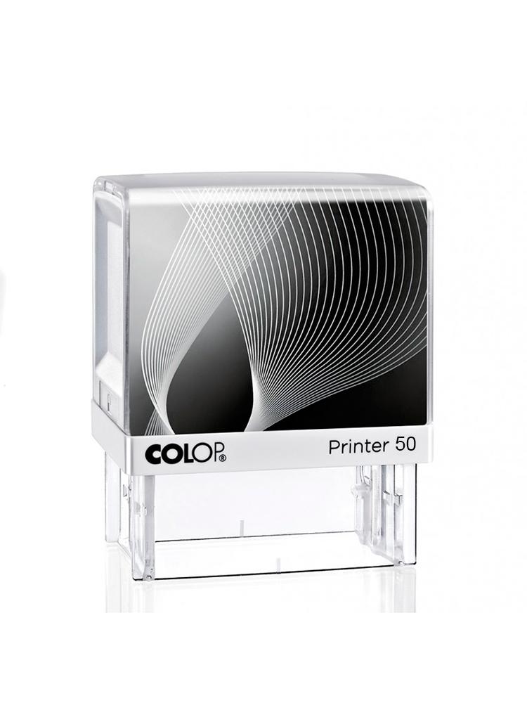 Colop Printer 50 оснастка для штампа 30х69 мм (радуга/ белая рамка)