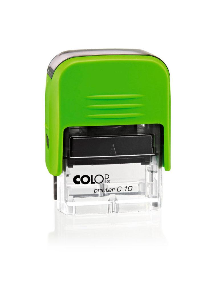 Colop Printer C10 автоматическая оснастка для штампа 10х27 мм (киви/прозрачная)