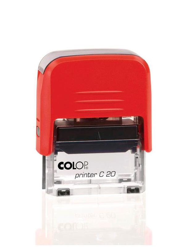 Colop Printer C20 для штампа 14х38 мм. (красная/ прозрачная).