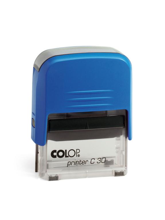 Colop Printer C30 оснастка для штампа 47х18 мм (синяя/ прозрачная) АКЦИЯ!