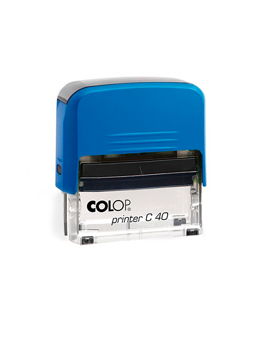 Colop Printer C40 оснастка автоматическая для штампа 59х23 мм. (синяя/ прозрачная)
