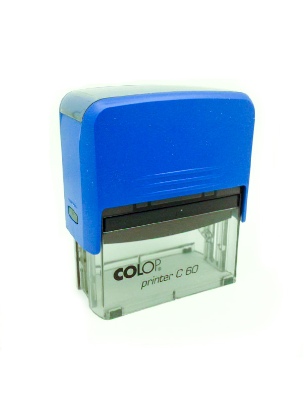 Colop Printer C60 оснастка для штампа 76х37 мм. (синяя/ прозрачная).
