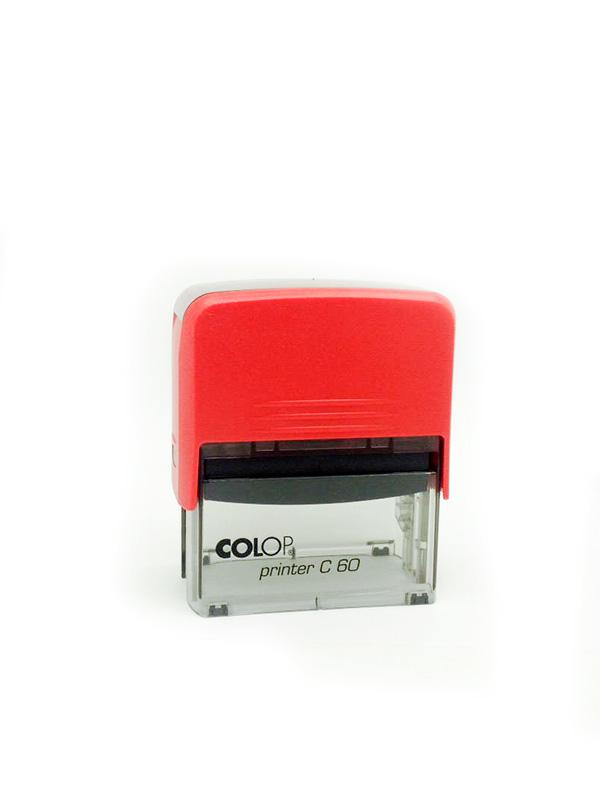 Colop Printer C60 оснастка для штампа 76х37 мм. (красная/ прозрачная).