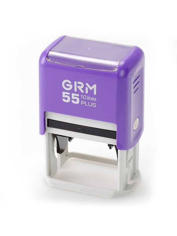 GRM 55 PLUS (4727) датер пластиковый с полем для текста, русский шрифт 60х40 мм