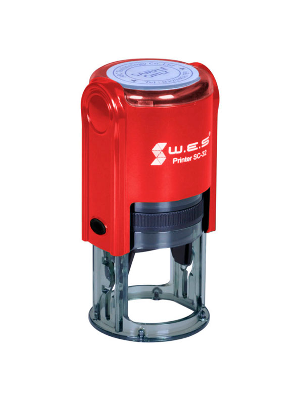 WES SC-32 RED Оснастка для круглой печати d 32мм (Красная)