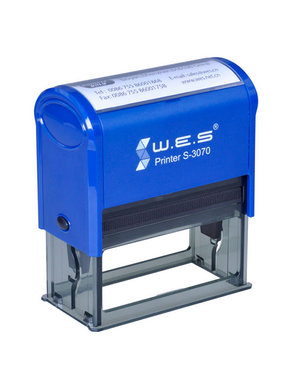 WES  S-3070 BLUE Оснастка автоматическая для штампа 70×30мм (синий)