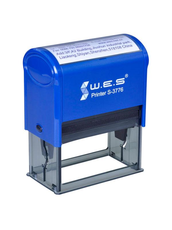WES  S-3776 BLUE Оснастка автоматическая для штампа 76×37мм (синий)