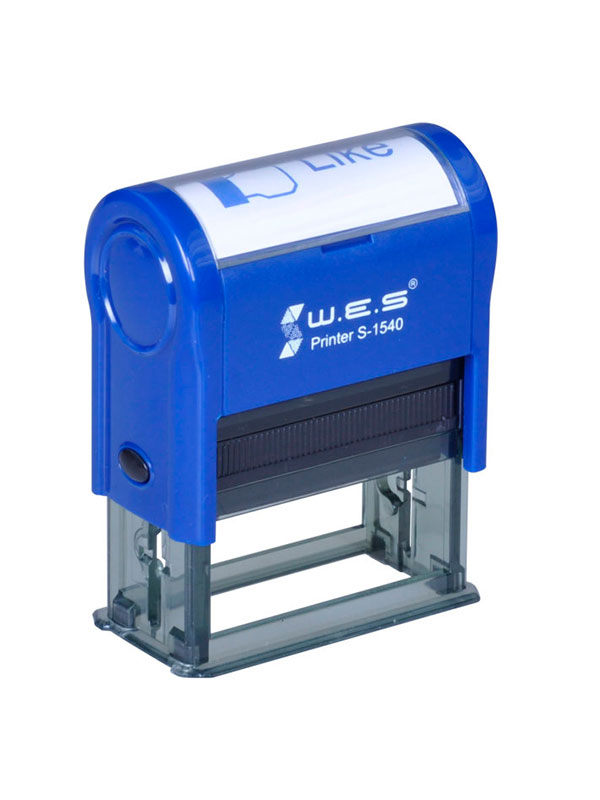 WES  S-1540 BLUE Оснастка автоматическая для штампа 15×40мм (синий)
