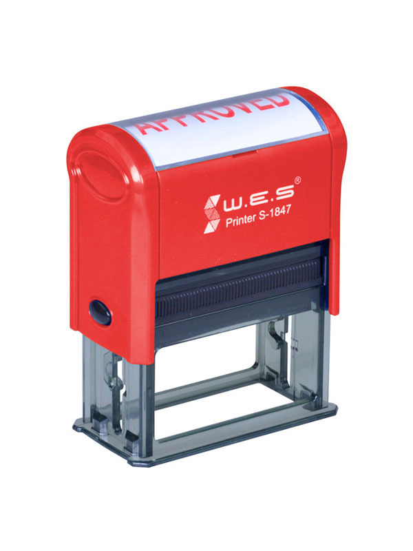 WES  S-1847 RED Оснастка автоматическая для штампа 18×47мм (красный)