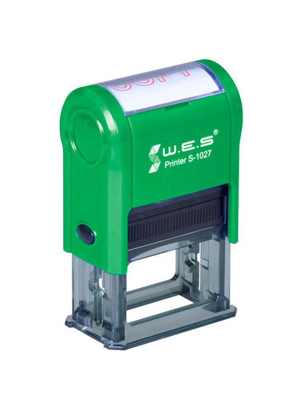 WES  S-2258 GREEN Оснастка автоматическая для штампа 22×58мм (зеленый)