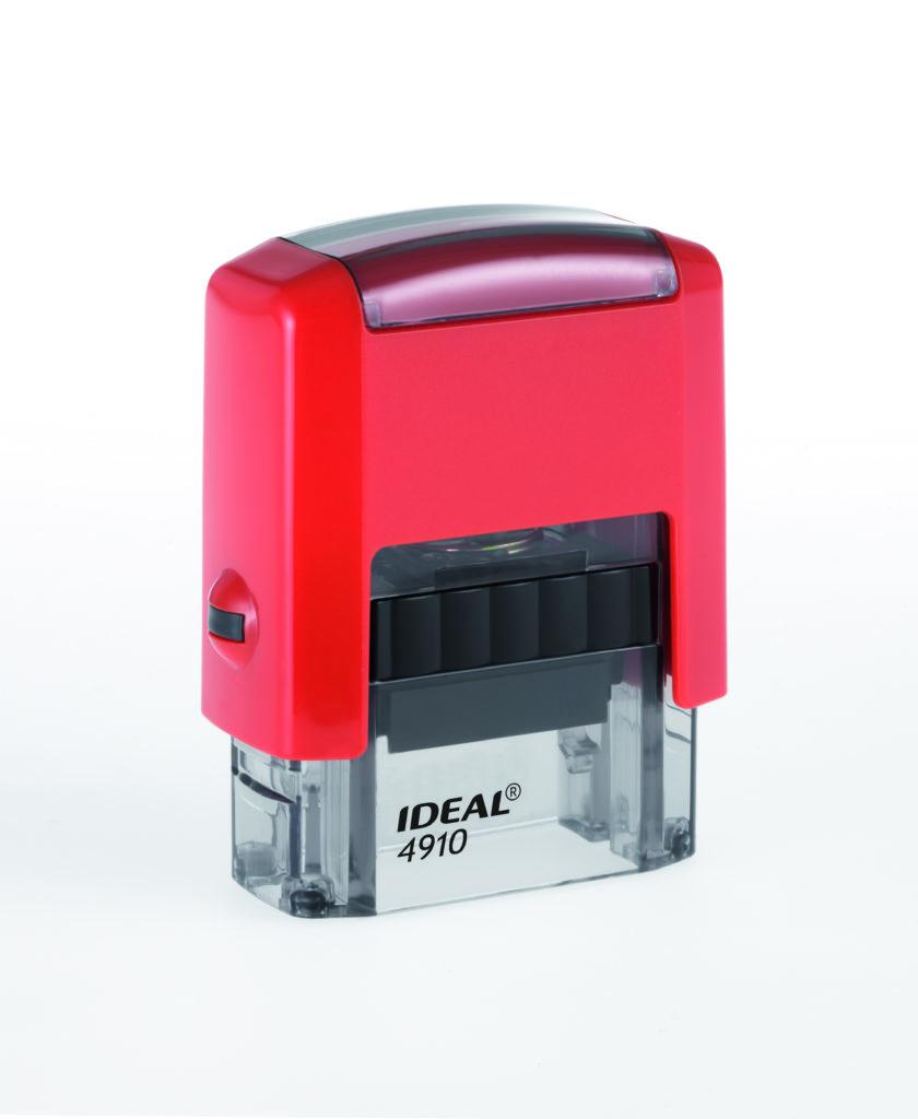 Trodat 4910 Ideal красная автоматическая оснастка  для штампа 26х9 мм