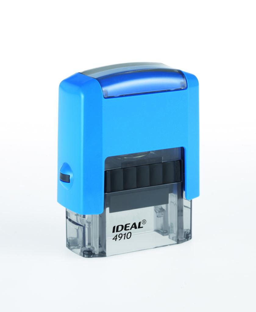 Trodat 4910 Ideal синяя автоматическая оснастка  для штампа 26х9 мм