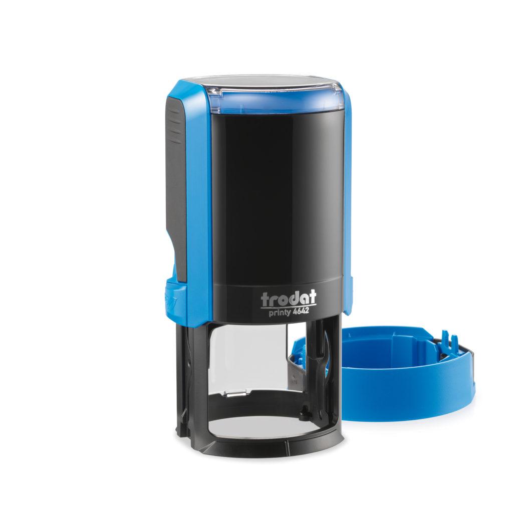 Trodat 4642 NEW автоматическая оснастка для печати d 42мм с защитной крышкой (синяя) (АКЦИЯ)